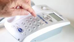 Making a telephone call Stock Footage