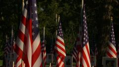Flags Fallen Heroes 14 zo Stock Footage