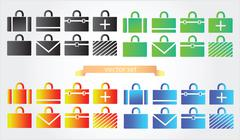 Stock Illustration of case icons variants of briefcase