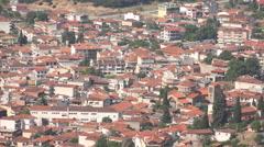 Meteora Orthodox Ancient Monasteries, Churches in Greece, Landmark, Tourists Stock Footage