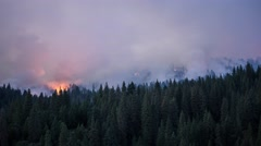 King Fire Burning Through Forest Timelapse 4K Stock Footage