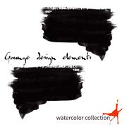 Black watercolor grunge arrows collection Stock Illustration
