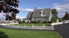 4K Cottage on Maine seacoast Stock Footage