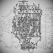 Microchip background, electronics circuit, EPS10 vector illustration Stock Illustration