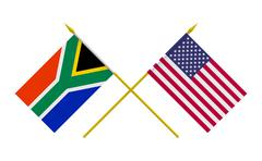 Stock Illustration of flags, south africa and usa