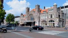 Haarlem railway station in Haarlem, Netherlands. Stock Footage