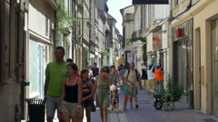 Tourists - Bergerac France Stock Footage