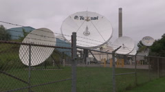 Satellite TV dish from the old days Stock Footage