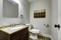 Bathroom interior with vanity cabinet Stock Photos