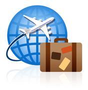 Worldwide traveling Stock Illustration
