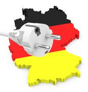 german energy transition - stock illustration