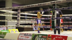 Muay thai traditional boxing in Thailand Stock Footage