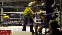 Muay thai traditional boxing Stock Footage