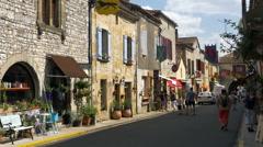 Rue Saint Jacques - Monpazier, Aquitaine France Stock Footage