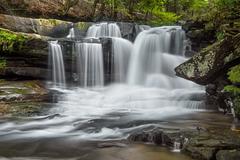West Virginia's Dunloup Falls - stock photo