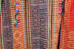 Colorful indigo dyed batik cloth from sapa Stock Photos