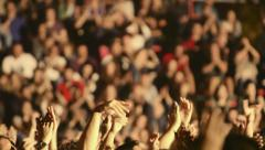 concert people crowd fans hands in the air clapping applauding 019 - stock footage