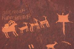 Indian petroglyphs, newspaper rock state historic monument, utah, usa Stock Photos