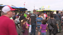 Canadian national exhibition on a hot sunny summer day Stock Footage