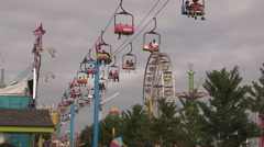 Canadian national exhibition on a hot sunny summer day - stock footage