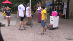 College and university students moving in to campus residence in September - stock footage