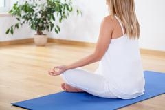 Stock Photo of starting day with yoga