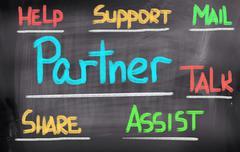 partner concept - stock illustration