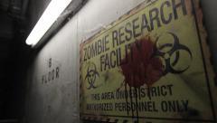 Zombie Facility | Angled Tilt Up Stock Footage
