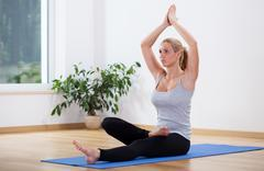 Stock Photo of yoga after long day
