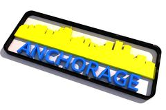 Anchorage City Logo 2 - stock illustration