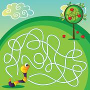 Vector maze for children Stock Illustration