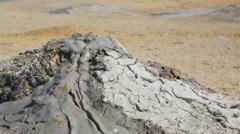 Mud volcano bubbling methane gas (Tahti Tepa, Georgia) Stock Footage