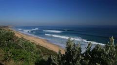 Beautiful remote beach coastline Australia Stock Footage