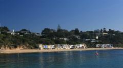 Coastal beach houses Portsea Victoria Australia Stock Footage