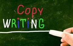 Stock Illustration of copy writing concept