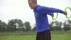 Smovey training exercises slow motion Stock Footage