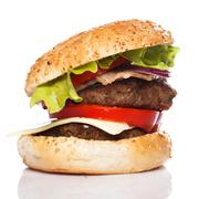 Stock Photo of big home made burger