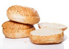 buns for burger - stock photo
