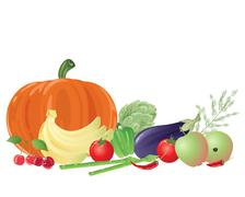 Fruit and veg Stock Illustration