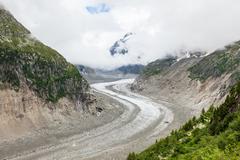 "ice sea - ""mer de glaces"" in chamonic - france - stock photo"