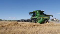 Stock Video Footage agriculture combine harvester Stock Footage