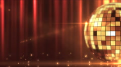 Disco mirror ball shining Stock Footage