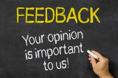 feedback - your opinion is important to us - stock illustration