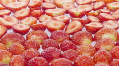 Time-lapse of drying strawberry Stock Footage