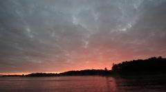 Georgian Bay at Dawn Stock Footage