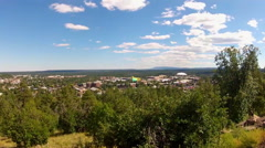 High And Wide City Of Flagstaff Arizona Pan Stock Footage