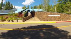 Lowell Observatory Visitors Center- Flagstaff Arizona Stock Footage