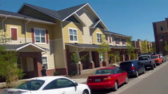 Rolling By New Town Homes And Apartments- Flagstaff AZ Stock Footage