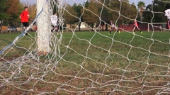 Soccer, football youth goal net Stock Footage