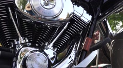Harley Davidson motorcycle, engine, motor - stock footage